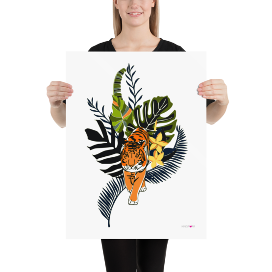 tiger in nature poster 18x24 woman