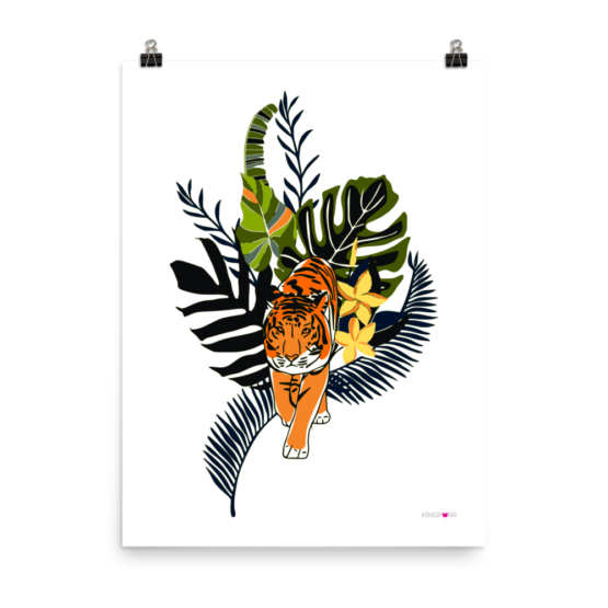 tiger in nature poster 18x24 wall