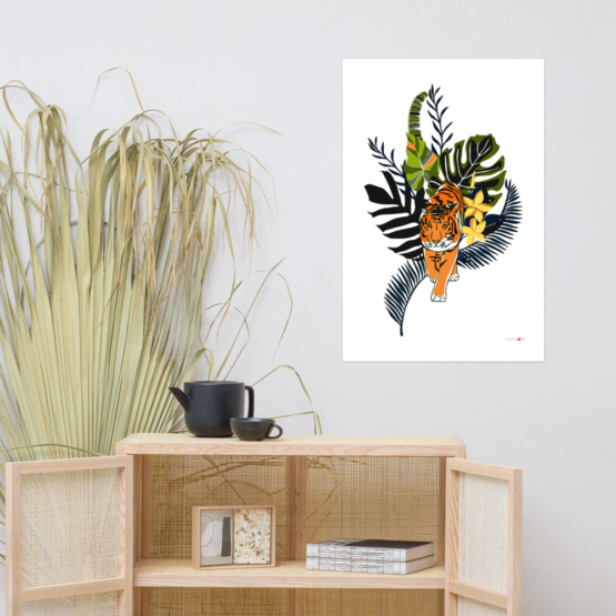 tiger in nature poster 24x36 living