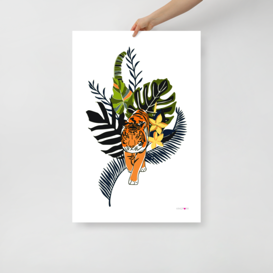 tiger in nature poster 24x36 hand