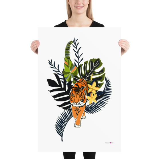 tiger in nature poster 24x36 woman
