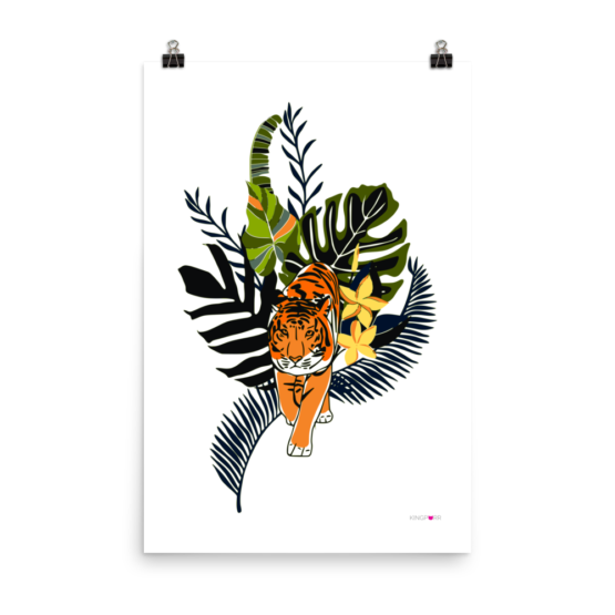 tiger in nature poster 24x36 wall