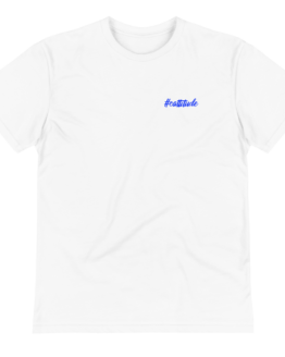 cattitude eco t-shirt wrinkled white