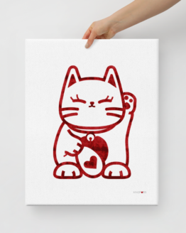 love cat canvas 16x20 hand