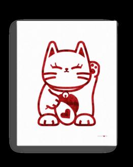 love cat canvas 16x20 front
