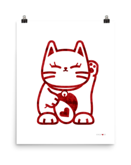 love cat poster 16x20 wall