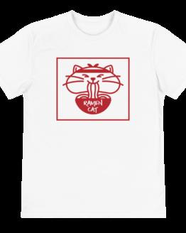 ramen cat eco t-shirt front white