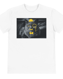 sir meow eco t-shirt front white